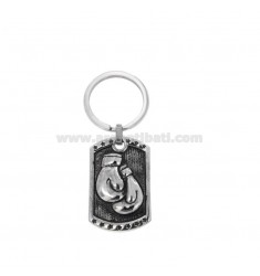 RECTANGULAR KEYRING WITH BRUNITO STEEL BOX GLOVES