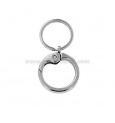 KEY RING WITH STEEL ROUND HOOK