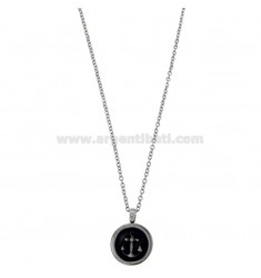 NECKLACE CABLE WITH STILL PENDANT STEEL BRUNITOE CM 50