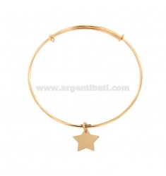 STARRE MM 2 ARMBAND IN CIRCLE MIT STAR ANHÄNGER IN KUPFER SILBER TIT 925 ‰