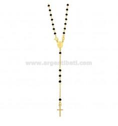 ROSARIO ROLO 'Halskette mit Kugeln in STEIN facettiert MM 35 Silber GOLDEN TIT 925 ‰ CM 50