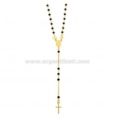 ROSARIO ROLO 'NECKLACE WITH BALLS IN STONE faceted MM 3.5 SILVER GOLDEN TIT 925 ‰ CM 50