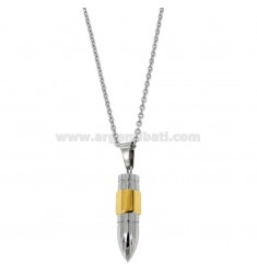 PENDANT STEEL PENDANT TWO-TONE CHAIN ??CABLE 45-50 CM