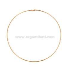 RIGID ROUND NECKLACE 15 MM 2-PIECE IN SILVER ROSE GOLD PLATED TIT 925