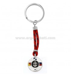 KEYCHAIN ??WITH STAINLESS STEEL AND STEEL CORD