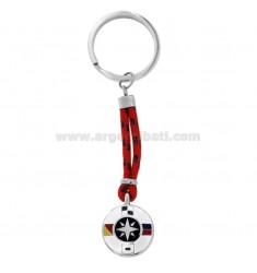KEYCHAIN ??WITH WOMEN'S ROSE AND STEEL CORD