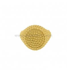 RING FROM MIGNOLO ROUND WITH MICROSPHERES IN GOLDEN SILVER 925 ‰ ADJUSTABLE SIZE FROM 6