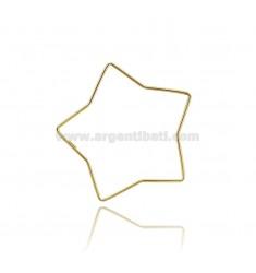 STAR BRACELET DIAMETER CM 7 A ROUND ROD 2 MM IN SILVER GOLDEN TIT 925 ‰