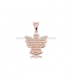 PENDANT ANGEL ECO WITH PRAYER 17x16 MM SILVER ROSE TIT 925