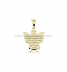 ECO ANGEL PENDANT WITH PRAYER MM 17X16 IN SILVER GOLDEN TIT 925