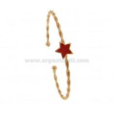 BANGLE MIT WIRE torchon verglast und STAR IN SILBER ROSE TIT 925