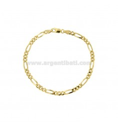 BRACELET 3 MM 3 MM 3.7X1.2 IN SILVER GOLD 925 ‰ CM 20
