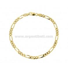 Armband SWEATER 3 1 MM 4,4X1,52 SILBER GOLDEN 925 ‰ CM 20