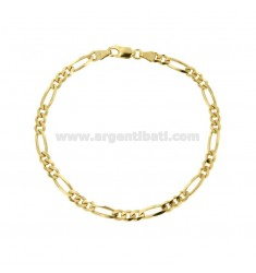 BRACELET SWEATER 3 1 MM 4,4X1,52 SILVER GOLDEN 925 ‰ CM 20