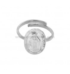 RING MADACNOSE MIRACULOUS OVAL 19X11 MM Silber Rhodium TIT 925 ‰ VERSTELLBARE MESSUNG
