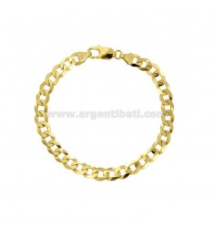 BRACELET SWEATER GRUMETTA MM 4,4X1,5 SILVER GOLDEN 925 ‰ CM 19
