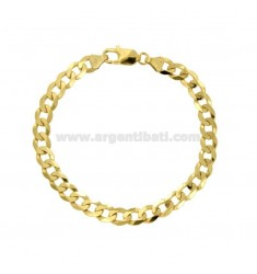 BRACELET SWEATER GRUMETTE MM 6X2 SILVER GOLD 925 ‰ CM 20