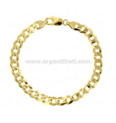 Armband SWEATER MM 6,5X2 GRUMETTE IN SILBER GOLD 925 ‰ CM 20