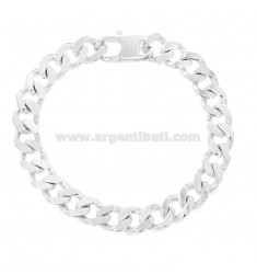 BRACCIALE GRUMETTA 4 SATI MM 10X3 SILVER TITLE 925 ‰ WITH FRENCH CLOSING CM 23