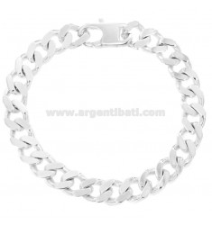 BRACCIALE GRUMETTA 4 SATI MM 12X3 SILVER TITLE 925 ‰ WITH FRENCH CLOSING CM 23
