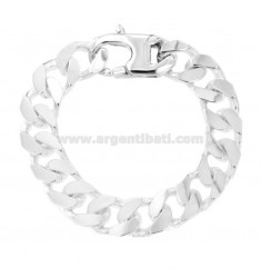 BRACCIALE GRUMETTA 4 SATI MM 13X4 SILVER TITLE 925 ‰ WITH FRENCH CLOSING CM 23