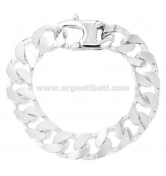 BRACCIALE GRUMETTA 4 SATI MM 14X5 SILVER TITLE 925 ‰ WITH FRENCH CLOSING CM 22