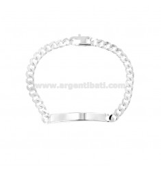 4 SIDED GRUMETY BRACELET WITH 3X1,5 MM PLATE IN SILVER TITLE 925 ‰ WITH FRENCH CLOSURE CM 21