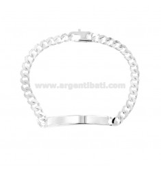 BRACCIALE GRUMETTA 4 SATI WITH PLATE 4X2 MM SILVER TIT 925 ‰ WITH CLOSING TO THE FRENCH CM 21