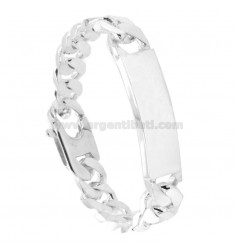 BRACCIALE GRUMETTA 4 SATI WITH PLATE 13X4 MM SILVER TITLE 925 ‰ WITH FRENCH CLOSING CM 23