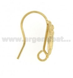 ATTACKS EARRINGS WITH GOLD PLATED IN SHAPE DEA 925