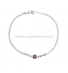 ROLO 'BRACELET WITH SILVER RHODIUM SILVER RHODIUM TIT 925 AND ENAMELED COLOR ENAMEL CM 18-20