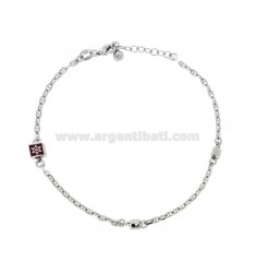 BRACELET SWEATER BUCKET WITH RUDDER SILVER RHODIUM TIT 925 AND ENAMELED COLORS CM 18-20