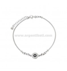 RIGID RIBBED BRACELET WITH RUDDER AND KNOTS MARINARIES IN SILVER RHODIUM TIT 925 AND ENAMELED ASSORTED COLORS