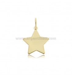 STAR PENDANT 20X20 MM LASER CUT SILVER GOLDEN TIT 925 ‰