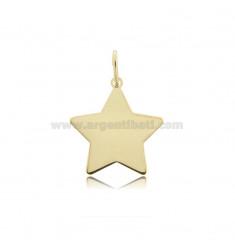 STAR PENDANT 22X22 MM LASER CUT SILVER GOLDEN TIT 925 ‰