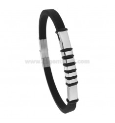 CAUCCIU 'BRACELET WITH STEEL PLATE