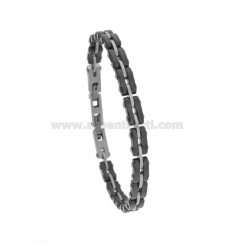 BRACELET WITH CERAMIC AND STEEL 21 CM