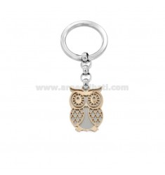 KEYRING WITH TWO-TONE STEEL CIVETTA