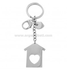 KEYRING WITH STEEL HOUSE