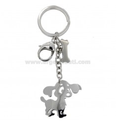 KEY RING WITH STEEL DOG