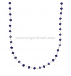 NECKLACE WITH STONES OF BLUE STONE IN SILVER RHODIUM TIT 925 ‰ CM 38-43