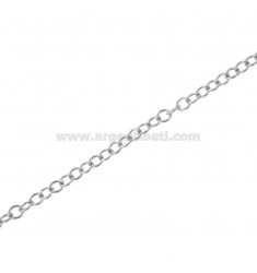 ROUND CHAIN BY THE METER DIAM 28 A WIRE MM 0,5 IN RHODIUM-PLATED SILVER TIT 925 ‰ CM 50