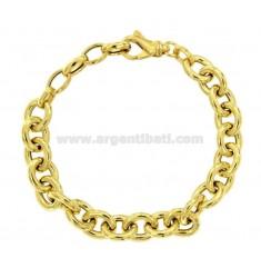 BRACELET CABLE 9 MM SILVER GOLDEN TIT 925 CM 19-21