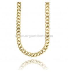 NECKLACE NECKLACE EMPTY GROOMETTE 11 MM SILVER GOLDEN TIT 925 CM 45-50