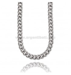 NECKLACE NECKLACE GROOMETTE EMPTY 13 MM SILVER RHODIUM TIT 925 CM 45-50