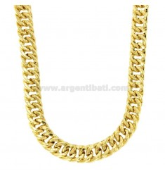 NECKLACE NECKLACE VEGET GROWER CANE SQUARE 12 MM IN SILVER GOLDEN TIT 925 CM 45-50
