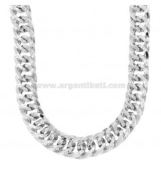 NECKLACE NECKLACE VEGET GROWER CANE SQUARE 15 MM SILVER RHODIUM TIT 925 CM 45-50