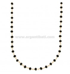 LACE WITH WASTE OF BLACK AGATE FACETED IN SILVER ROSE TIT 925 ‰ CM 80-90
