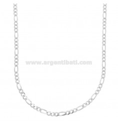 CATENA 3+1 SLIM MM 3 CM 60 IN ARGENTO TIT 925‰