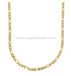 CHAIN 3 1 SLIM MM 3 CM 60 SILVER GOLDEN TIT 925 ‰